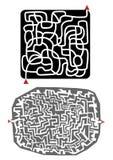 迷宫设计 库存图片