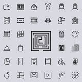 迷宫象 详细的套minimalistic线象 优质图形设计 其中一个网站的汇集象,网des 向量例证