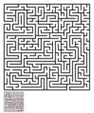 迷宫迷宫难题 库存图片