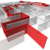 迷宫镶板长方形 免版税库存照片