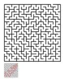 迷宫,孩子的迷宫难题 免版税库存图片