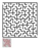 迷宫,孩子的迷宫难题 库存图片