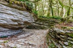 迷宫-构造缺点形成了20百万年前 免版税库存图片