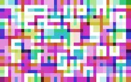 迷宫pixelated 图库摄影