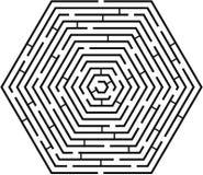 迷宫sixcut 库存照片