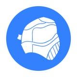 迷彩漆弹运动在白色背景在概述样式的面具象隔绝的 迷彩漆弹运动标志股票传染媒介例证 免版税库存照片