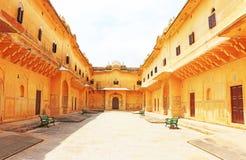 迷惑的Nahargarh堡垒斋浦尔拉贾斯坦印度 免版税库存照片