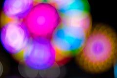 迷离光,圆的象花的颜色 库存图片