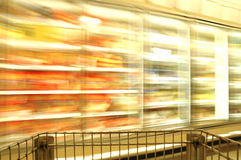 迷离冻结的超级市场 免版税库存照片