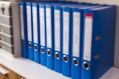 迷离办公室文件 免版税图库摄影