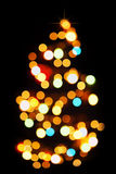 迷离圣诞灯模式结构树 免版税库存照片