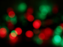 迷离圣诞灯 免版税库存图片