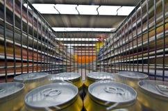 迷离大型超级市场行动 免版税库存照片