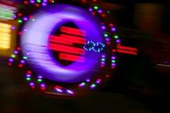 迷离娱乐场五颜六色的赌博的光行动 库存照片