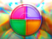 迷离把cd装箱 库存照片
