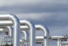 迷离热管道系统通知 免版税库存图片