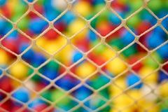 迷离背景在孩子的操场 免版税库存图片