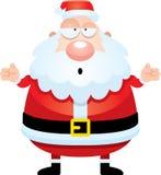 迷茫的动画片圣诞老人 库存照片