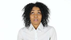 迷茫的害怕的黑人妇女 股票视频