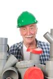 迷茫的滑稽的水管工 免版税库存照片