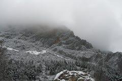 迷雾山脉在冬天 免版税图库摄影