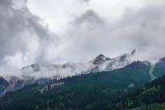 迷雾山脉在奥地利 免版税库存照片
