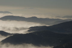迷雾山脉 库存照片