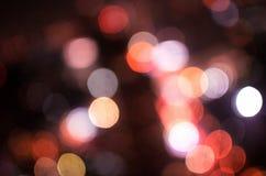 迷离光,在焦点外面, 免版税库存照片
