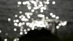 迷离水和阳光振动背景 影视素材