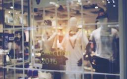 迷离服装购物中心区域时尚 免版税库存照片