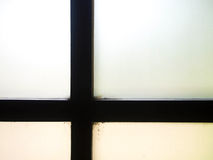 迷离玻璃窗 免版税库存图片