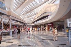 迷离瓷购物中心行动购物 免版税库存照片