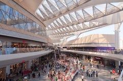 迷离瓷购物中心行动购物 免版税图库摄影