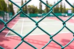 迷离网球场 免版税库存图片