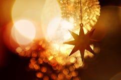 迷离bokeh圣诞节enhaced光 库存照片