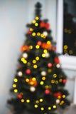 迷离bokeh圣诞节enhaced光 免版税图库摄影