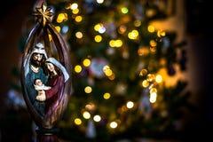 迷离bokeh圣诞节enhaced光 免版税库存图片