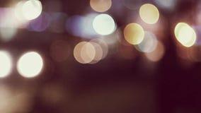 迷离carlights在被定调子colorized的夜 股票视频