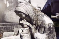 追悼的女性 免版税库存图片