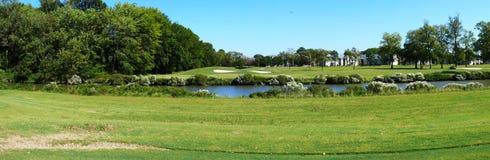 追猎美丽如画的高尔夫球 免版税库存图片