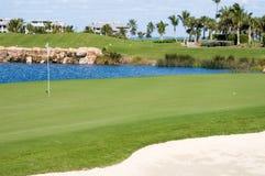 追猎高尔夫球 免版税库存照片