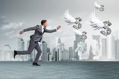 追逐天使投资者资助的买卖人 免版税库存图片