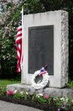 退伍军人公墓旗子 库存照片