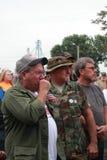 退伍军人撕毁在救球我们的发怒集会,诺克斯维尔,衣阿华 免版税库存图片
