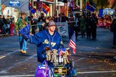 退伍军人日游行2015年 免版税图库摄影