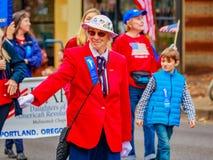 退伍军人日游行2016年 免版税库存照片