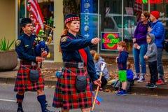 退伍军人日游行2016年 免版税库存图片