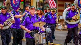 退伍军人日游行2016年 免版税图库摄影