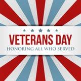 退伍军人日背景 美国爱国五颜六色的模板 库存例证