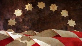 退伍军人日 旗子和图 免版税库存照片